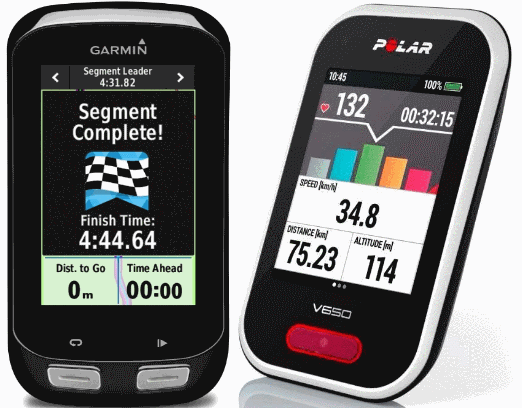 Garmin Edge of Polar V650