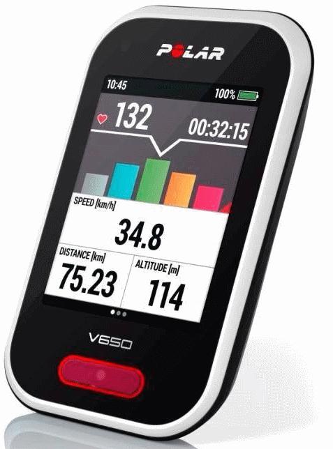 Polar V650, mooi en compleet met uitgebreide functies voor de sportieve fietser